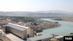 The Sangtuda-1 hydropower plant on the river Vakhsh30Jul2009