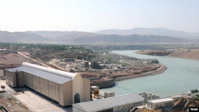The Sangtuda-1 hydropower plant on the river Vakhsh30Jul2009