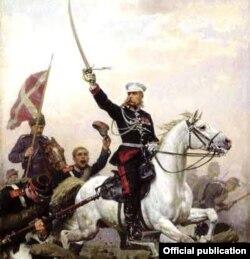 Генерал Скобелевди даңктаган сүрөт.