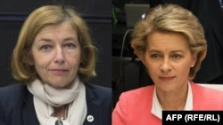 German Defense Minister Ursula von der Leyen (right) and French Defense Minister Florence Parly (composite file photo)