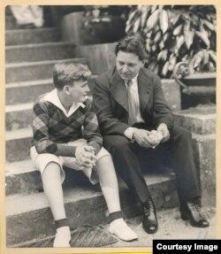 George Enescu cu Yehudi Menuhin la New York