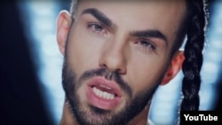 Slavko Kalezic is looking to win this year's Eurovision Song Contest with a tune and look that break many taboos in his native Montenegro.