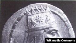 Տիգրան Մեծի դիմապատկերով արծաթե դրամ