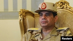 Шефот на египетската армија, генерал Абдел Фатах ал-Сиси.
