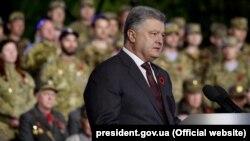 Президент України Петро Порошенко під час заходу з нагоди Дня пам'яті та примирення. Київ, 8 травня 2017 року (ілюстраційне фото)