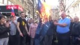 Radikali zapalili zastave NATO i EU