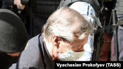 Mikhail Yefremov arrives at a Moscow court on August 20.