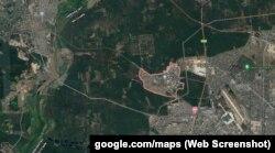 Коцюбинське на мапі розташоване фактично в межах столиці