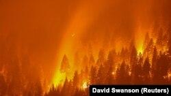 Пожары в Калифорнии, США, 2021 год