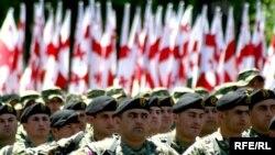 В параде приняли участие представители практически всех родов войск грузинской армии