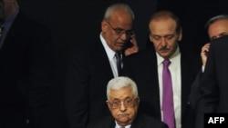 محمود عباس (جلو) در مجمع عمومی سازمان ملل