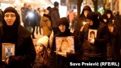 Sa litije Srpske pravoslavne crkve u Podgorici, 9. februar 2020.