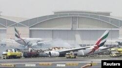 Boeing-777 авиакомпании Emirates после пожара
