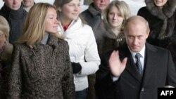 Ռուսաստանի նախագահ Վլադիմիր Պուտինը դստեր հետ, արխիվ