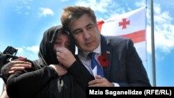Михаили Саакашвили һәлак булган Грузия хәрбиләрен искә алу җыенында