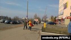 """Каля """"Эвікома"""" 20 сакавіка"""