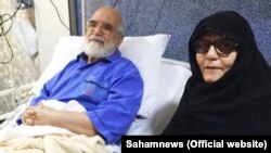 Photo Released by Mehdi karroubi's family on twitter shows him in hospital after cardiac surgery on August 2017.