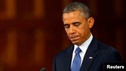 Барак Обама під час виступу в Бостоні, 18 квітня 2013 року