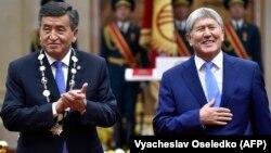 Президент Сооронбай Жээнбеков жана экс-президент Алмазбек Атамбаев.