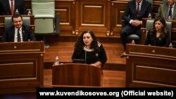 Kryetarja e Kuvendit të Kosovës, Vjosa Osmani. Fotografi nga arkivi.