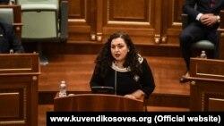 U.d presidentja e Kosovës, njëherësh kryeparlamentarja, Vjosa Osmani. Foto nga arkivi.