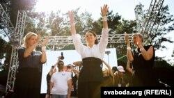 Bjelorusija, skup podrške kandidatkinji ujedinjene opozicije Svetlani Tihanovskajoj, avgust, 2020.