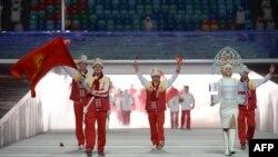 Кыргызстан на Олимпийских играх в Сочи представляет горнолыжник Дмитрий Трелевский. На церемонии открытия, 7 февраля 2014