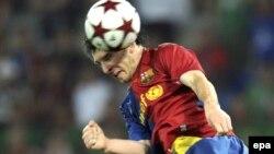"""Barselona"" futbol klubi hujumchisi Lionel Messi."