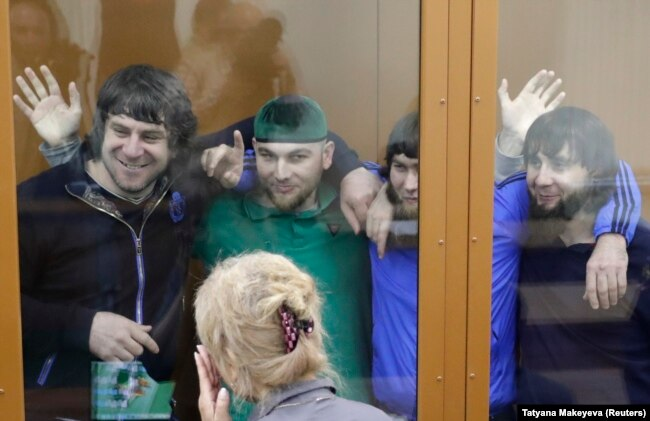 Подсудимые по делу об убийстве Бориса Немцова