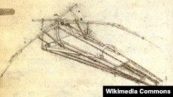 """Leonardo da Vinçinin hazırladığı """"Uçan maşın"""" dizaynı"""