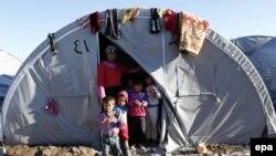 İllüstrasiya. Türkiyədə Suriya qaçqınlarının yaşadığı çadır