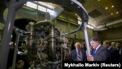 Архивска фотографија од посетата на Порошенко на фабриката Јужмаш, 21 октомври 2014.