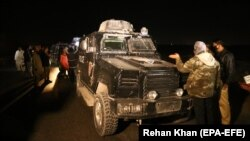 Policija na mjestu napada, Pakistan