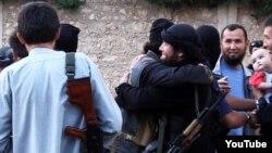 Скриншот видеозаписи о казахах в Сирии, размещенной на Youtube.