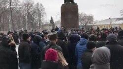 Родственники погибшего в отделе полиции вышли на митинг во Владикавказе