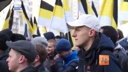 """Россияне прошли """"Русским маршем"""" по Москве"""