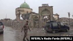 مسجد جامع نوری در موصل، مکانی که داعش خلافت خود را در آن اعلام کرده بود