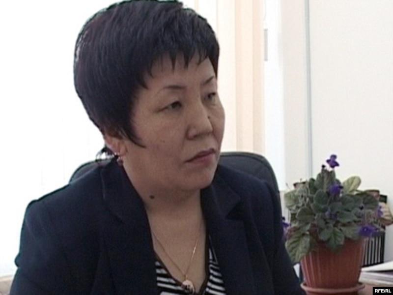 Бухгалтер Дина Талданбаева, участница Декабрьских событий 1986 года. Талдыкорган, декабрь 2009 года
