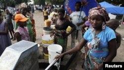 Лагерь беженцев в Мозамбике