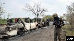 Ситуация в Славянске, 20 апреля 2014