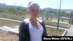 «Жасыл ел» бағдарламасына қатысушы, колледж оқушысы Кристина Хохлова. Теміртау, 21 шілде 2014 жыл.
