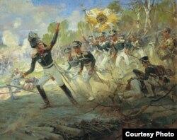 Николай Самохин. Подвиг солдат генерала Н.Н.Раевского под Салтановкой 11 июля 1812 года. 1912 год