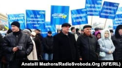 Демонстранти, що підтримують дії президента Януковича, 30 листопада 2013 року