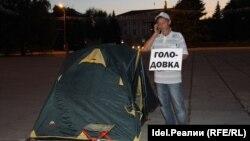 Вячеслав Шепелев на голодовке в поддержку рабочих АВТОВАЗ-агрегата