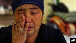 Нурбакыт Калияскардын 25 жаштагы кызы Кытайдагы лагерде. 2018-жылы тартылган сүрөт.