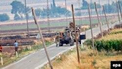 Suriya sərhədində Türkiyə tankları