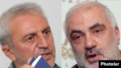 Armenia -- Aram Manukian (L), chairman of the opposition HHSh party, and Karapet Rubinian, a former HHSh figure, undated
