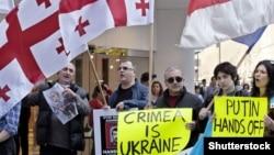 Акція грузинів на підтримку України, квітень 2014 року (©Shutterstock)