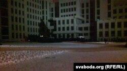 Плошча Незалежнасьці пасьля разгону акцыі пратэсту 19 сьнежня 2010