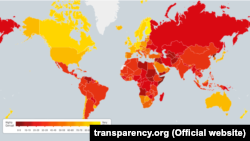 "Рейтинг Transparency International ""Индекс восприятия коррупции"" по итогам 2015 года"